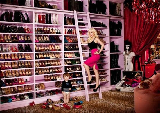 christina aguilera shoe closet