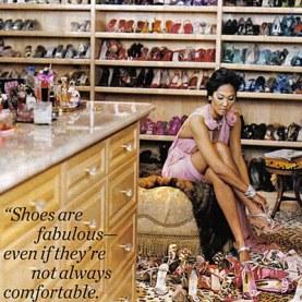 kimora lee shoe closet