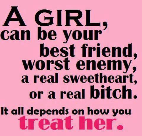 A girl, can be your best friend