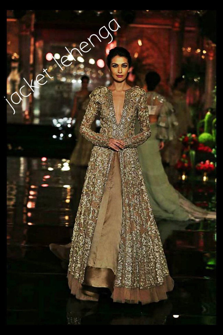 manish-malhotra-couture-collection-2016-18-wedding-suit-brown-long