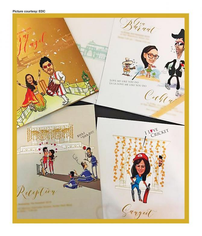 Yuvraj singh and hazel keech wedding card
