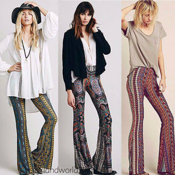 flared pants in winter