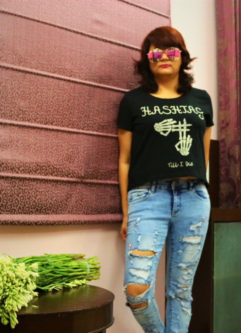 swapnil pandey soldier's girl ripped jeans, crop top fashinoista swag ootd shopping haul fashion trend summer spring