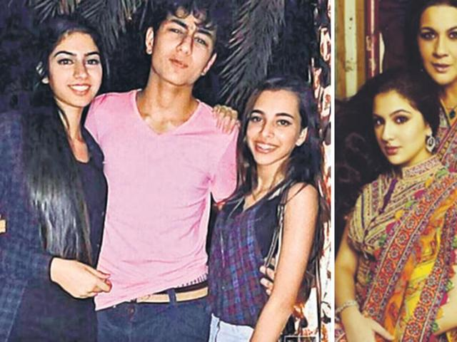 bollywood star kids next generation shahrukh khan son aryan khan Jhanvi Kapoor Sara ali Khan debut film bollywood launch nepotism teen icon india movie star children nepotism