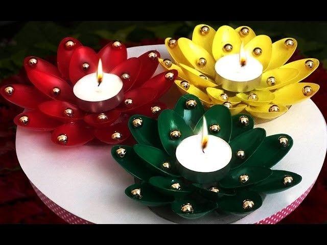 Easy innovative diy diwali lighting ideas girlandworld for Art and craft diya decoration