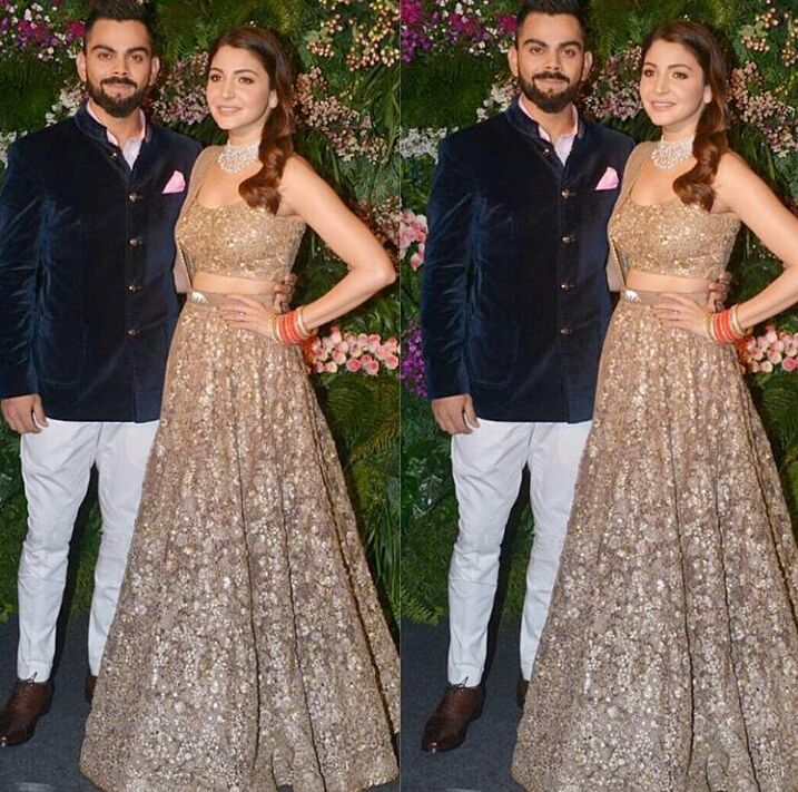 Virat Kohli, Anushka Sharma, Virushka, Wedding Reception, Mumbai Delhi arty Bride power couple Bollywood Cricket Shahrukh Khan Honeymoon