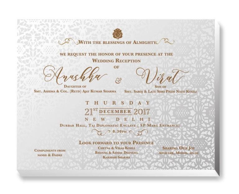 wedding card virat kohli anushka sharma wedding marraige milan italy love story cricketer bollywood heroine love story virushka