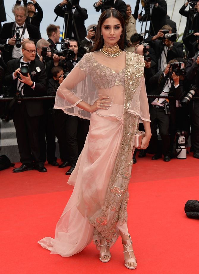 Sonam kapoor best look dress fashion disaster rhea kapoor cannes sonam kaoor gown red carpet look