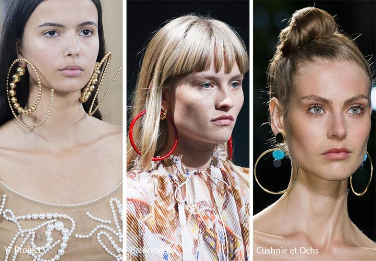 spring summer latest jewelry trend accessory trend latest jewelry designs 2018 fashion statement pieces style shopping guide woman girl hoops shopping runaway earrings online