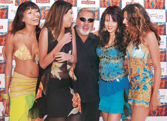 vijay Mallya, piny lalwani, third wife, money laundering, lifestyle hot affair, kingfisher calender,