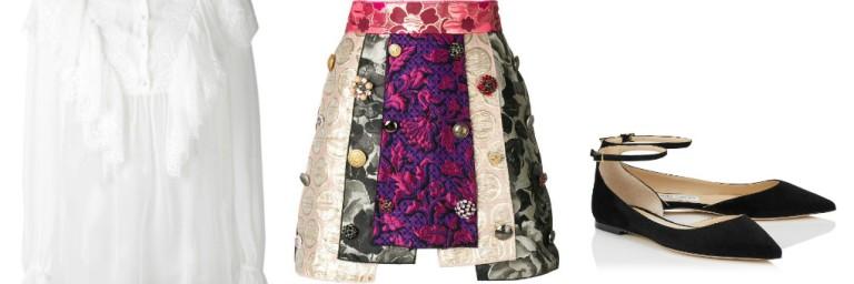 jaquered skirt