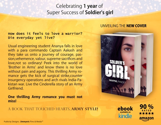 SOLDIER'S GIRL LOVE STORY OF A PARA COMMANDO swapnil pandey military romance army love story indian army wife officer girlfriend Indian Army contemproary fiction best book of the year best military fiction romance chick lit  humour best romantic books of all time