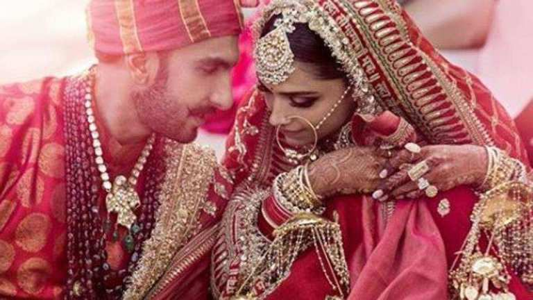 Deepika Padukone Ranveer Singh DeepVeer wedding marriage gown dress party lake como wedding venue guests family sindhi wedding konkani wedding sbyasachi bride makeup rituals secrets bollywood couple marriage