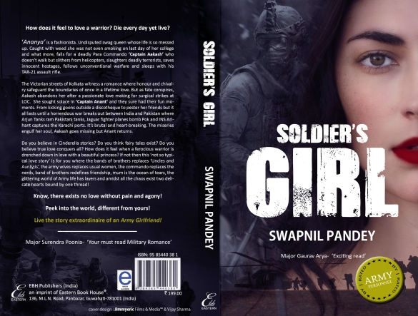 soldier's girl swapnil pandey indian army military romance army love story army wife army girlfriend contemproray fiction chick lit hit book of the year most popular fiction in india teen young adult