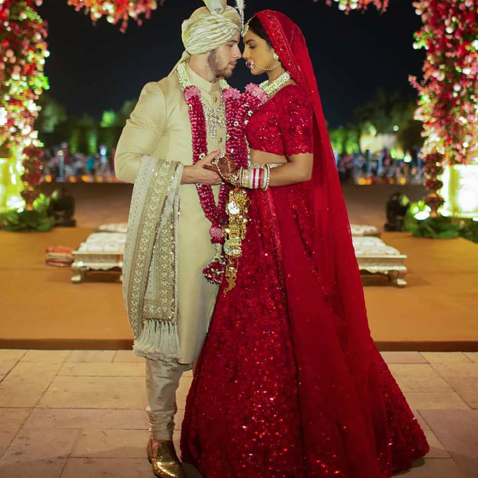 Nickyanka christain ceremony hindu ceremony Ralph Lauren bride groom season Priyanka Chopra Nick Jonas wedding marriage jodhour bollywood Hollywood gown designer party guest wedding dress royal wedding