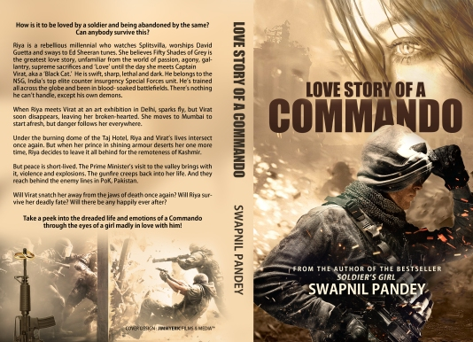 Soldier's girl love story of a commando, love story valentine day gift book Indian writing amazon best seller Indian army officer wife girlfriend military romance romantic fiction swapnil pandey author best books NSG commando para commando girl romance marriage rachna bisht rawat books shiv aroor shoot dive fly india'a most fearless brave