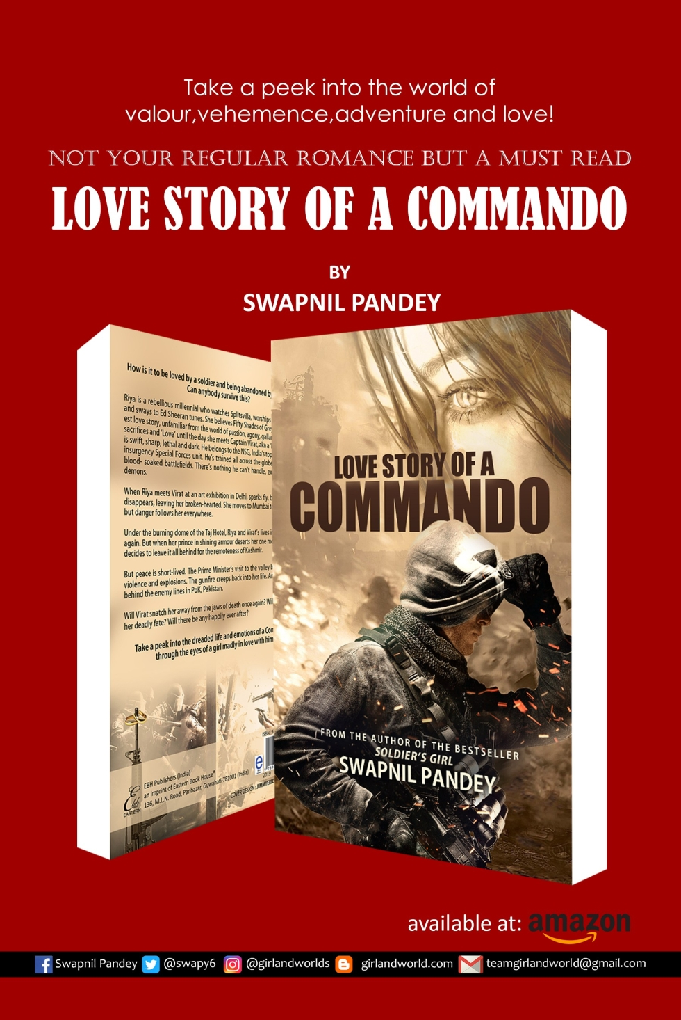 army novel shiv aroor shoot dive fly india'a most fearless soldier' girl military story soldier novel best passion courage love story of a commando, love story valentine day gift book Indian writing amazon best seller Indian army officer wife girlfriend military romance romantic fiction swapnil pandey author best books special forces book para commando love story gift contemporary army marriage indian army nda ima cadet defense aspirant