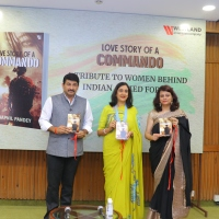 Mrs Madhulika Rawat,first lady of Indian Army launches a book on military relationships