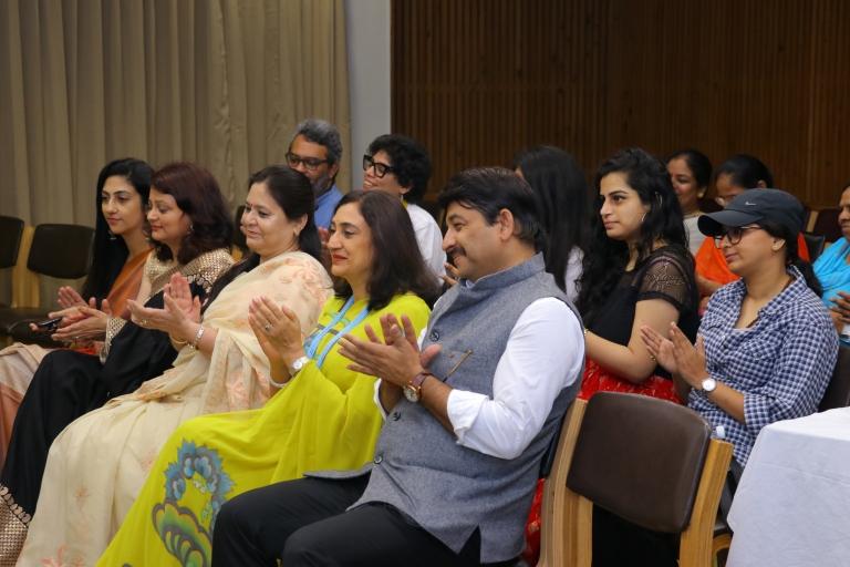 book launch Manoj Tiwari Madhulika Rawat awwa president