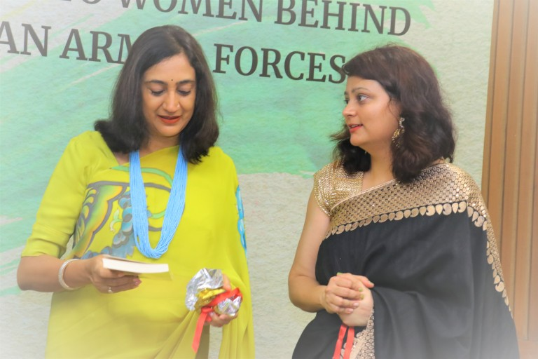 book launch signing event idea westland books amazon publishing marketting book promotions dignitaries celebrity book launch love story of a commando swapnil pandey Manoj tiwari madhulika Rawat bipin rawat AWWA initiative role veer naris martyrs wives army officer indian army wife girlfriend book best seller of 2019 army officer military relationship star studded book launch party event idea venue invitation card