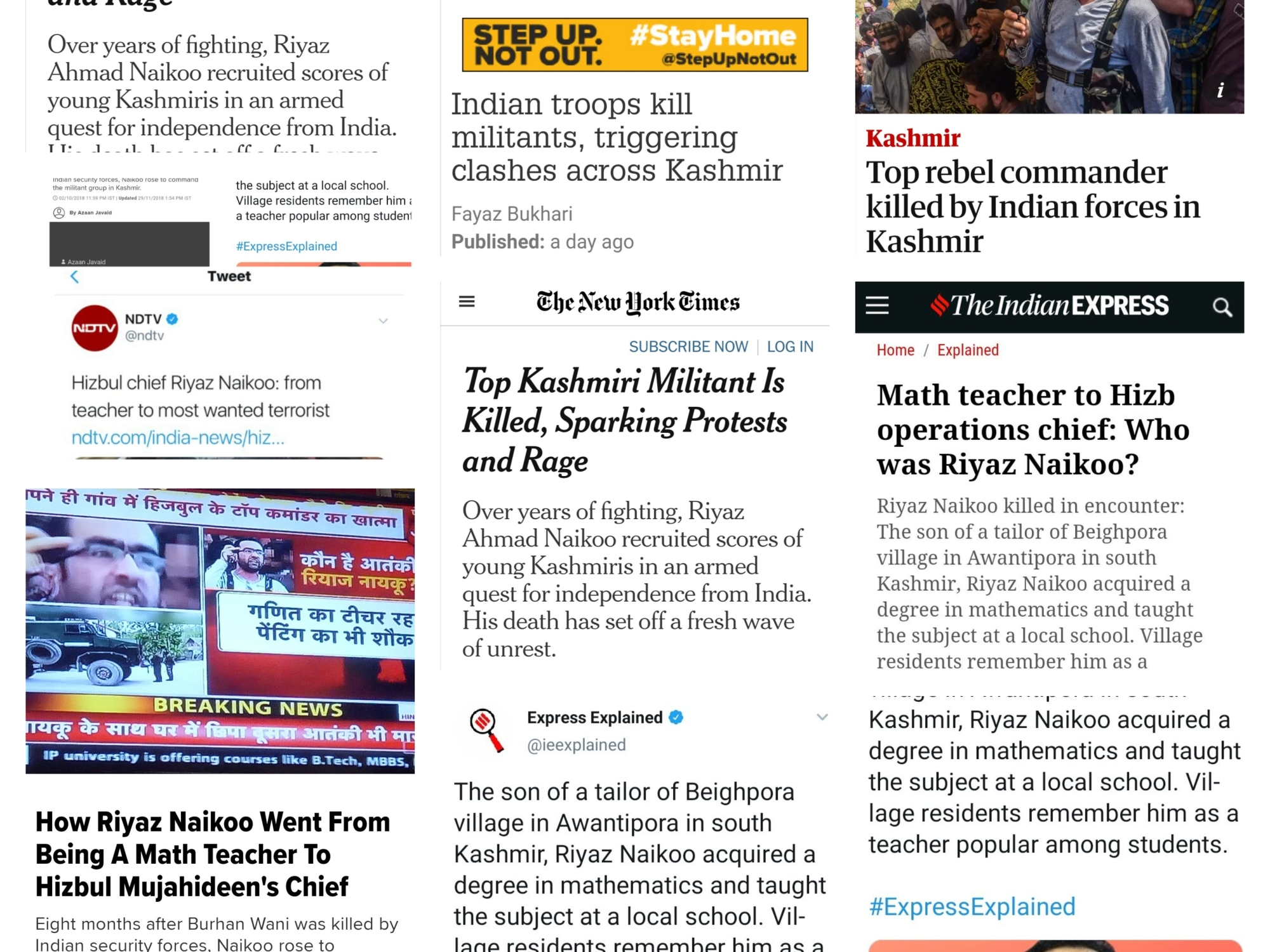 false reporting kashmir martyrs azaadi freedom fighters security forces riyaz naikoo terrorist hizbul mujahidin Hm terror outfit encounter indian army lutyen media presstitutes International media sickular propaganda
