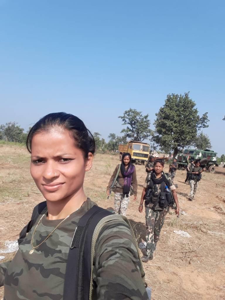 sunaina patel, DRG Chattishgarh, Danteshwari fighters commando naxal naxalite woman empowerment safoora zargar pregnant commando woman fighter India police constable ANI