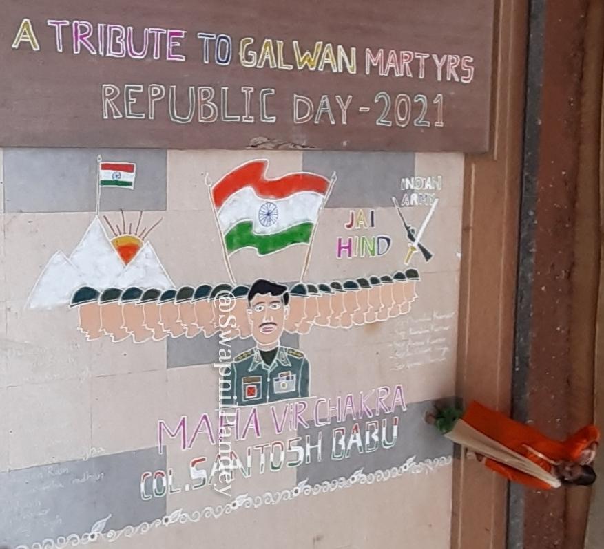 galwan Colonel Santosh babu Maha Vir Chakra family gallantry award republic day Param vir Chakra sister Shruti