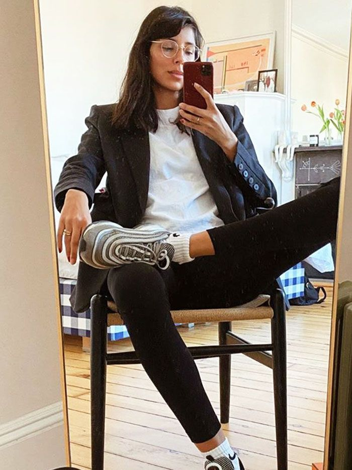 WFH fahion snoes sneakers work from home fashion comfortable shoes trend how to dress up ideas